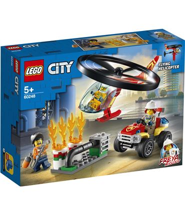 Lego Intevencion Helicoptero Bomberos 60248