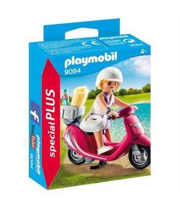 Mujer con Scooter Playmobil 9084