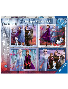 Puzzle 4x100 piezas Frozen 2