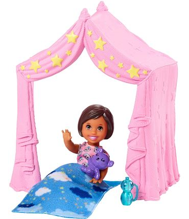 Barbie - Skipper: Bebe con Casita de Noche