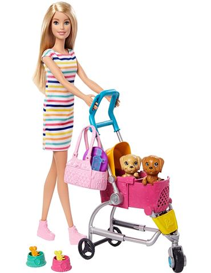 Barbie - Carrito para Mascotas