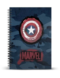 Cuaderno A4 - Papel Cuadriculado: Capitan America