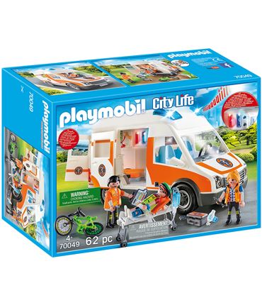 Playmobil City Life - Ambulancia con Luces 70049
