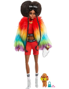 Barbie - Extra: Abrigo Arcoiris con Mascota Canich