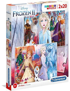 Puzzle - Multipuzzle: Frozen 2 Anna y Elsa 2x20 pc