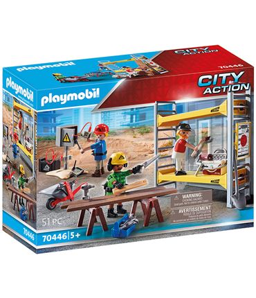 Playmobil City Action - Andamio con Obreros 70446