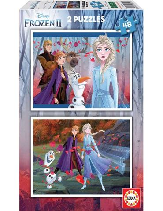 Puzzle 2 x 48 Frozen 2