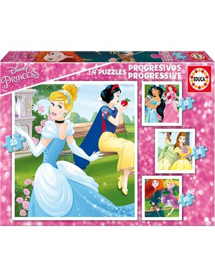 Puzzle 12+16+20+25 Princesas