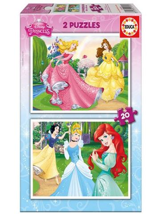 Puzzle 2x20 Princesas Disney