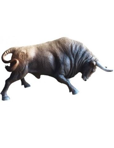 Toro Embistiendo Castaño