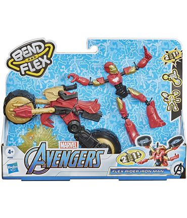 Bend and Flex - Iron Man y Vehiculo (Avengers)
