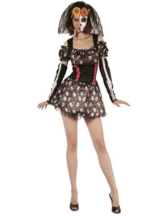 Disfraz Dia de Muerte Mujer