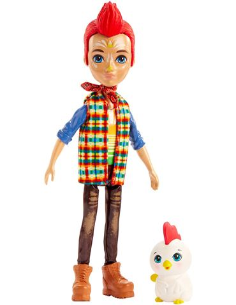 Enchantimals - Muñeco Redward Rooster y Cluck