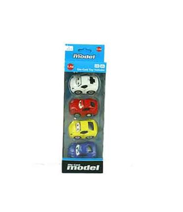 Coches 6 cm. (Pack 4)