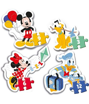 Puzzle - Multipuzzle: Baby Mickey 3-12 pcs