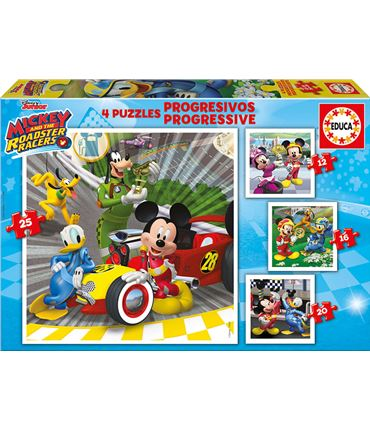Puzzle 12+12+20+25 Mickey superp.