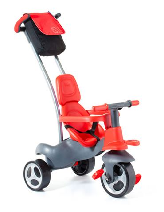 Triciclo Rueda Goma Rojo