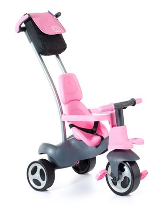Triciclo Rueda Goma Rosa
