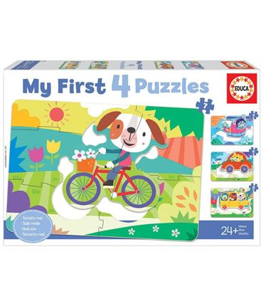 Puzzle - My First 4 Puzzles: Vehículos