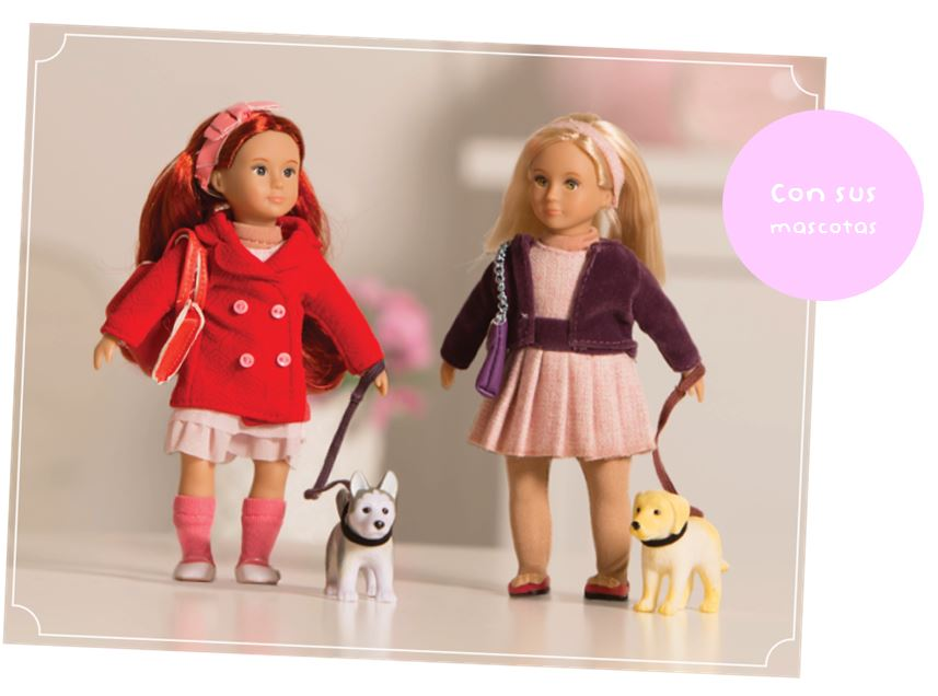 mascota y muñeca lori