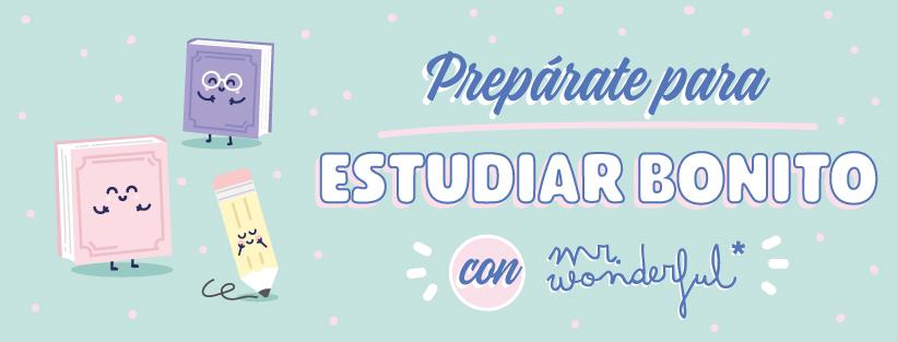 Prepárate para estudiar bonito